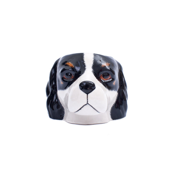 Quail Cocker Spaniel Black White Egg Cup