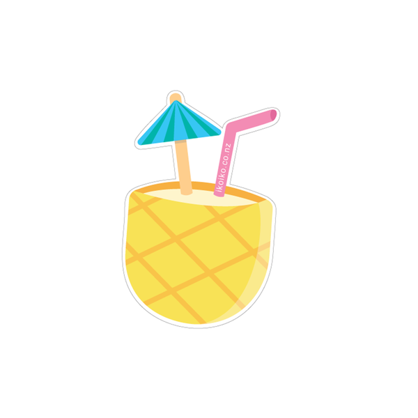 Iko Iko Fun Size Sticker Pinapple Pina Colada