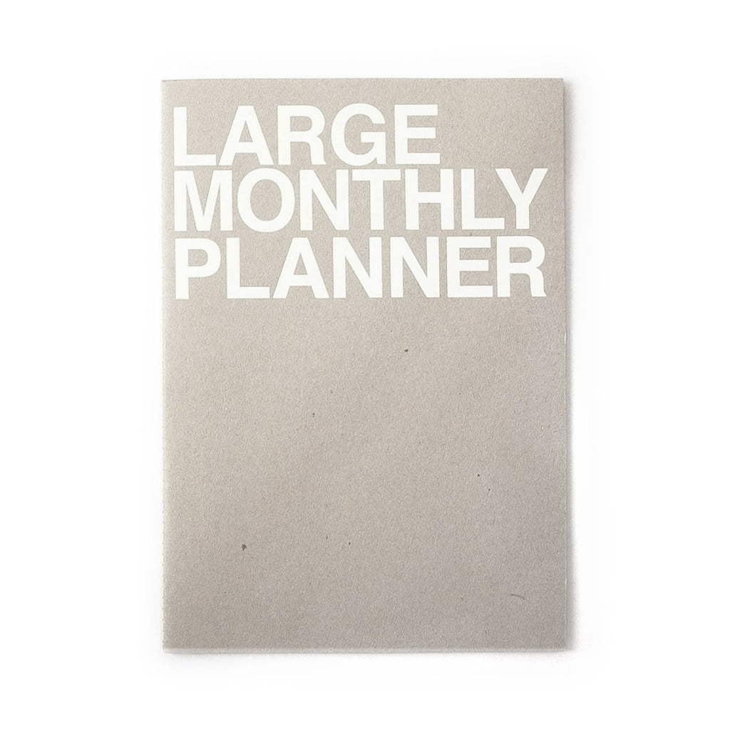 J Story Undated Planner Monthly Large Grey