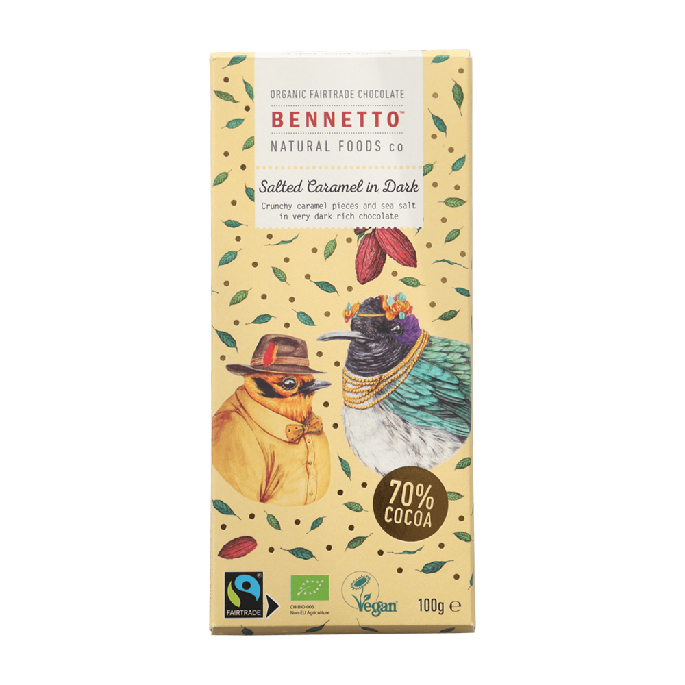 Bennetto Chocolate Salted Caramel in Dark 100g