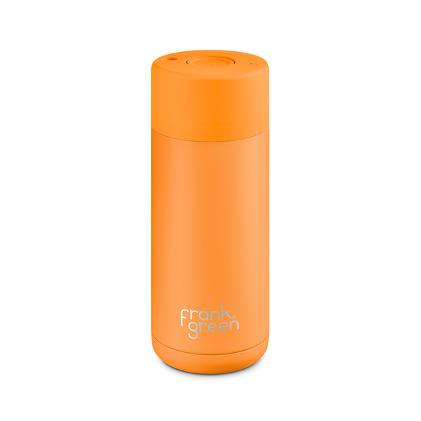Frank Green Stainless Steel Smart Cup 16oz Turmeric