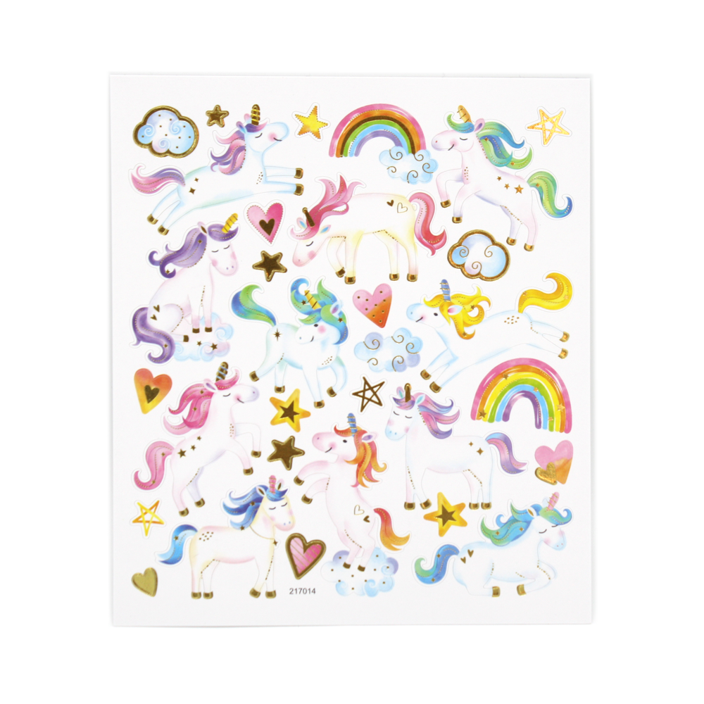 Unicorn Stars and Rainbows Stickers