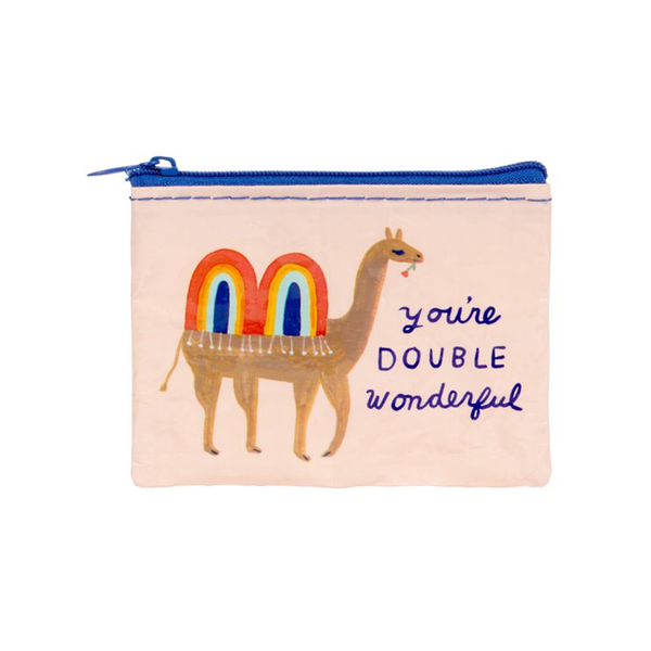 Blue Q Coin Purse Double Wonderful