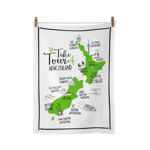 Moana Road Tea Towel Tiki Tour