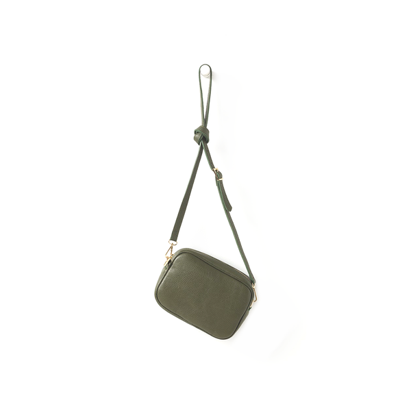 Citta Dixon Leather Handbag Olive Green