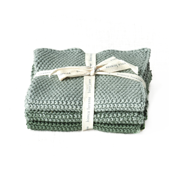 Bianca Lorenne Washers Lavette Set of 3 Sage