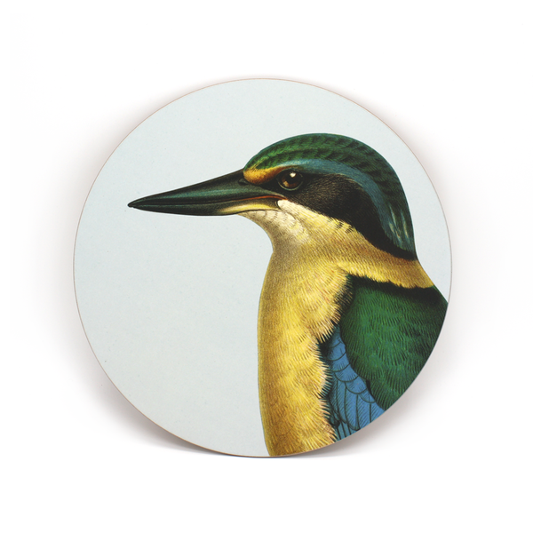 100% NZ Cork Backed Placemat Kingfisher
