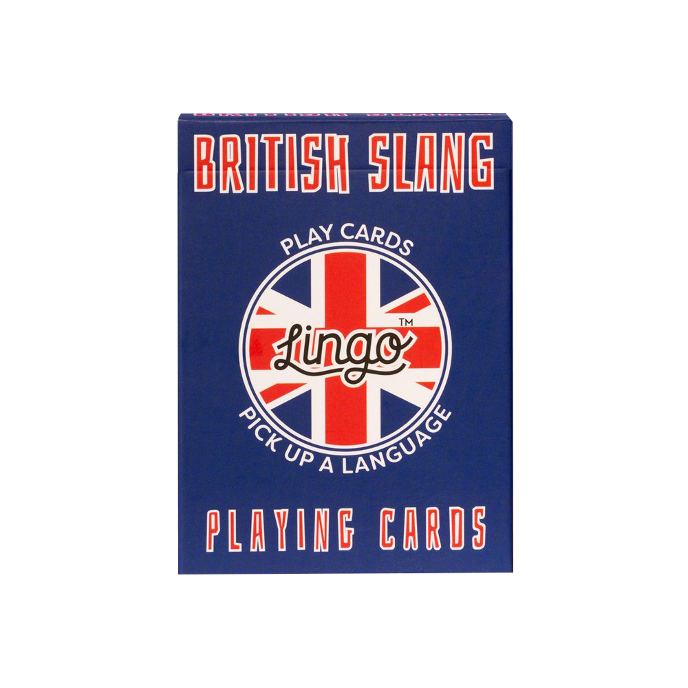 Lingo British Slang Playing Cards