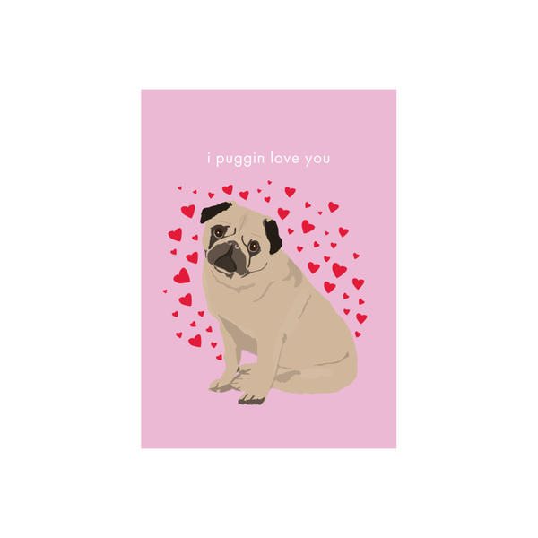 Iko Iko Animal Pun Card Pug Love