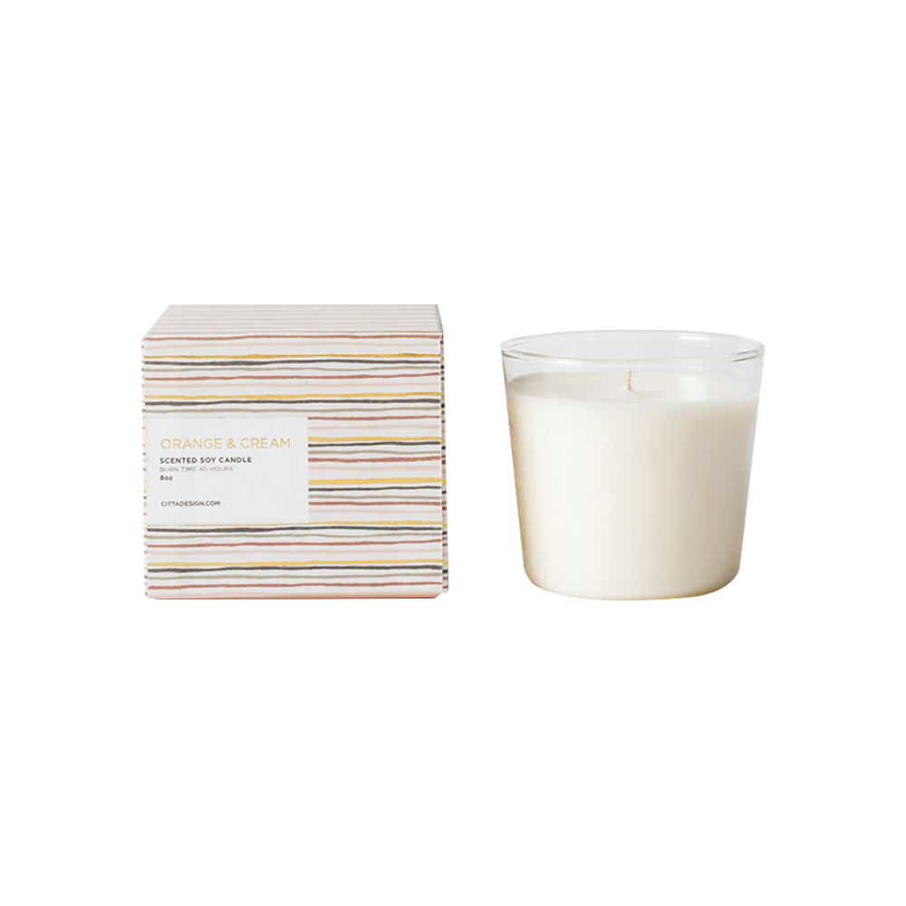 Citta Scented Soy Candle Orange and Cream