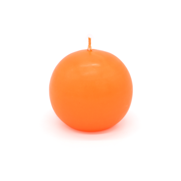 Ball Candle Large Orange