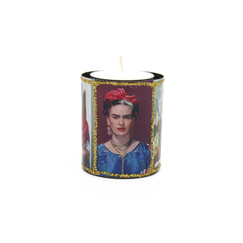 Mexican Candle in Tin Holder Frida
