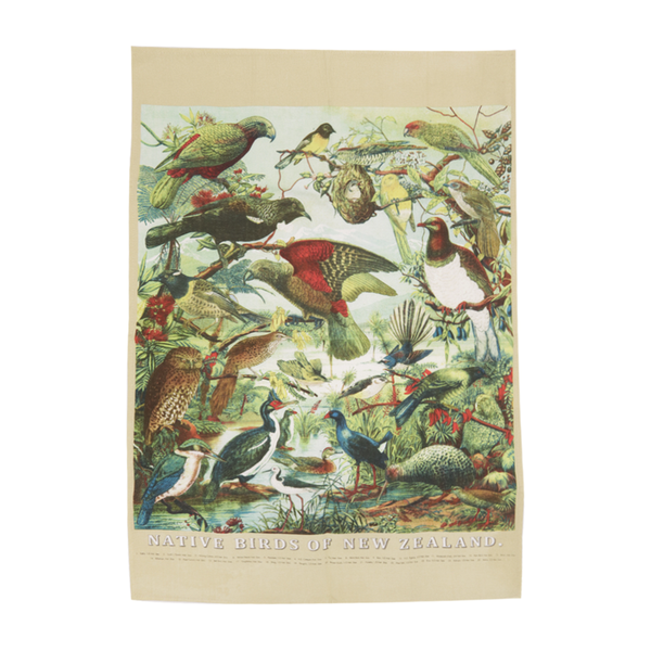 Native Birds of New Zealand Prestige Tea Towel