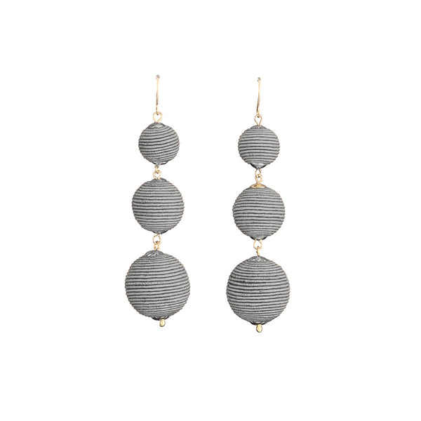 Stella + Gemma Earrings Iris Grey