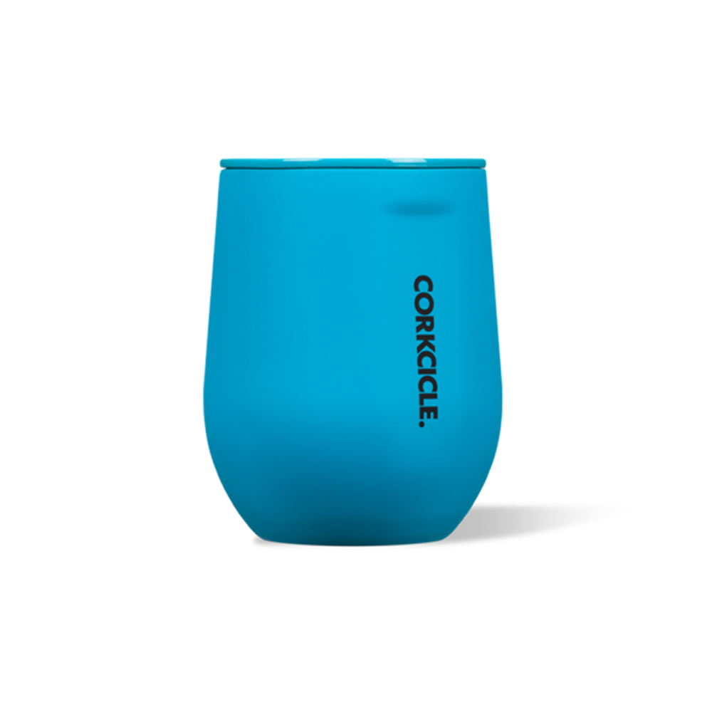 Corkcicle Stemless 12oz Neon Blue