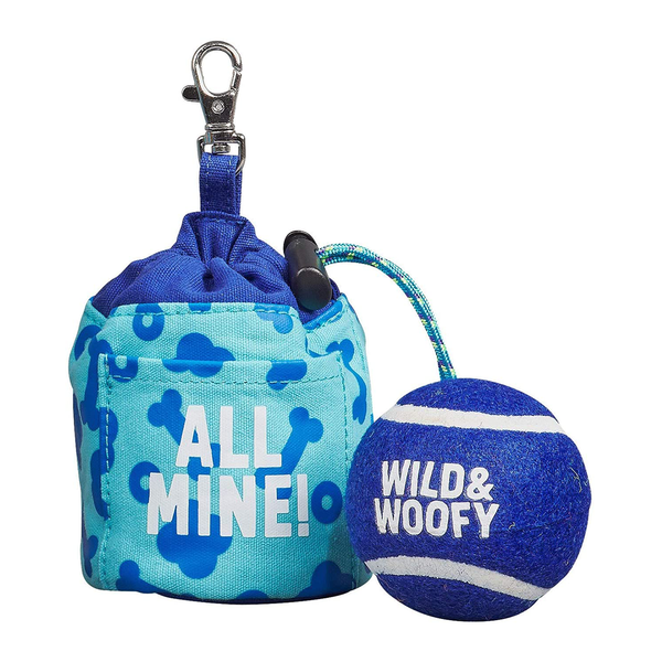 Wild & Woofy Fetch and Treat Pouch with Ball