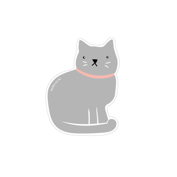 Iko Iko Fun Size Sticker Cat Grey
