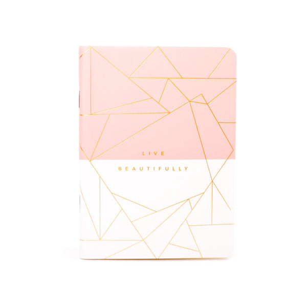 Frank A6 Pocket Notebook Pink White Geo