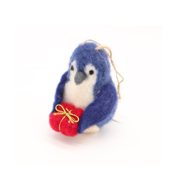 Milly Mac Mini Friend Little Blue Penguin with Present