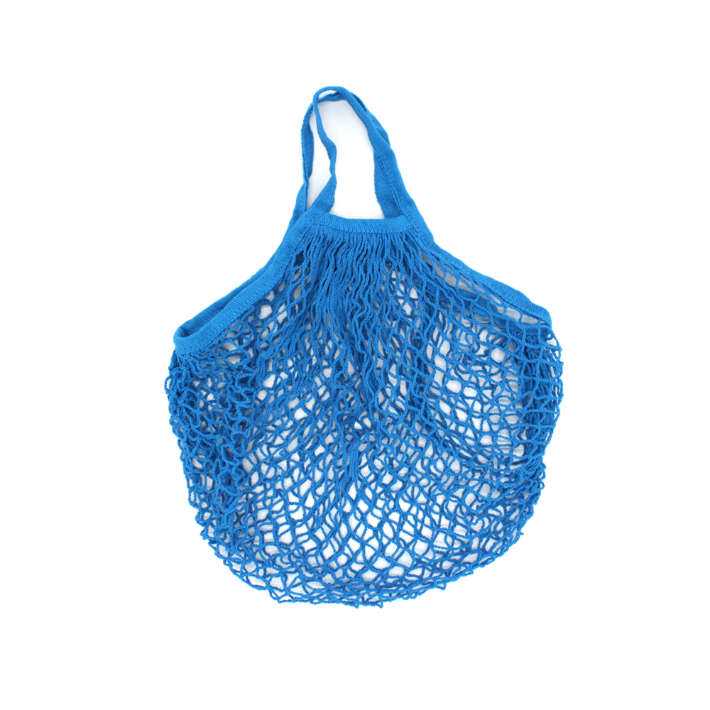 Iko Iko String Cotton Shopping Bag Bright Blue