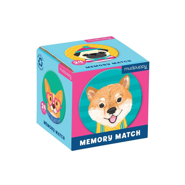 Mudpuppy Mini Memory Match Game Dog Portraits