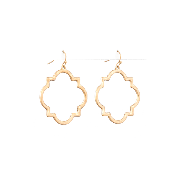 Stella + Gemma Earrings Brocante Square Gold
