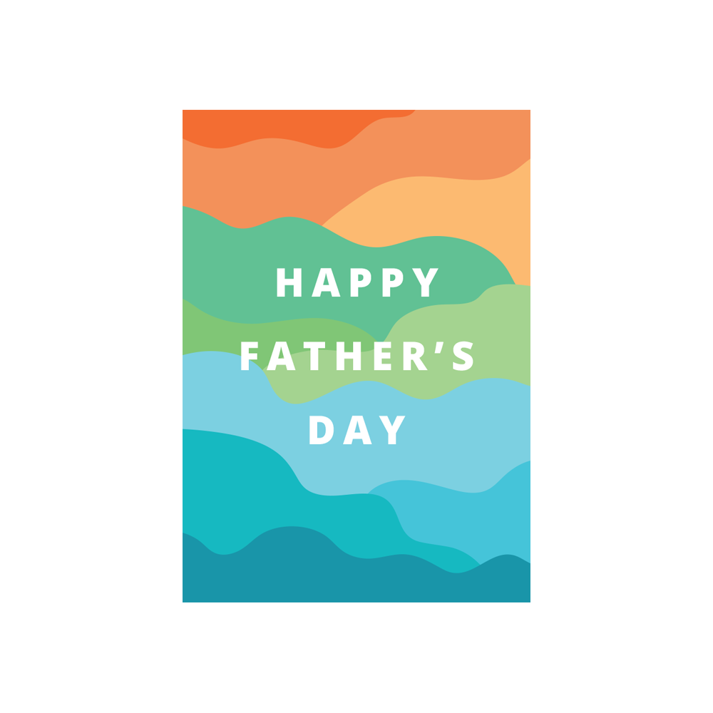 Iko Iko Father's Day Card Waves