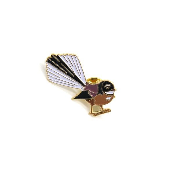 New Zealand Metal Pin Fantail