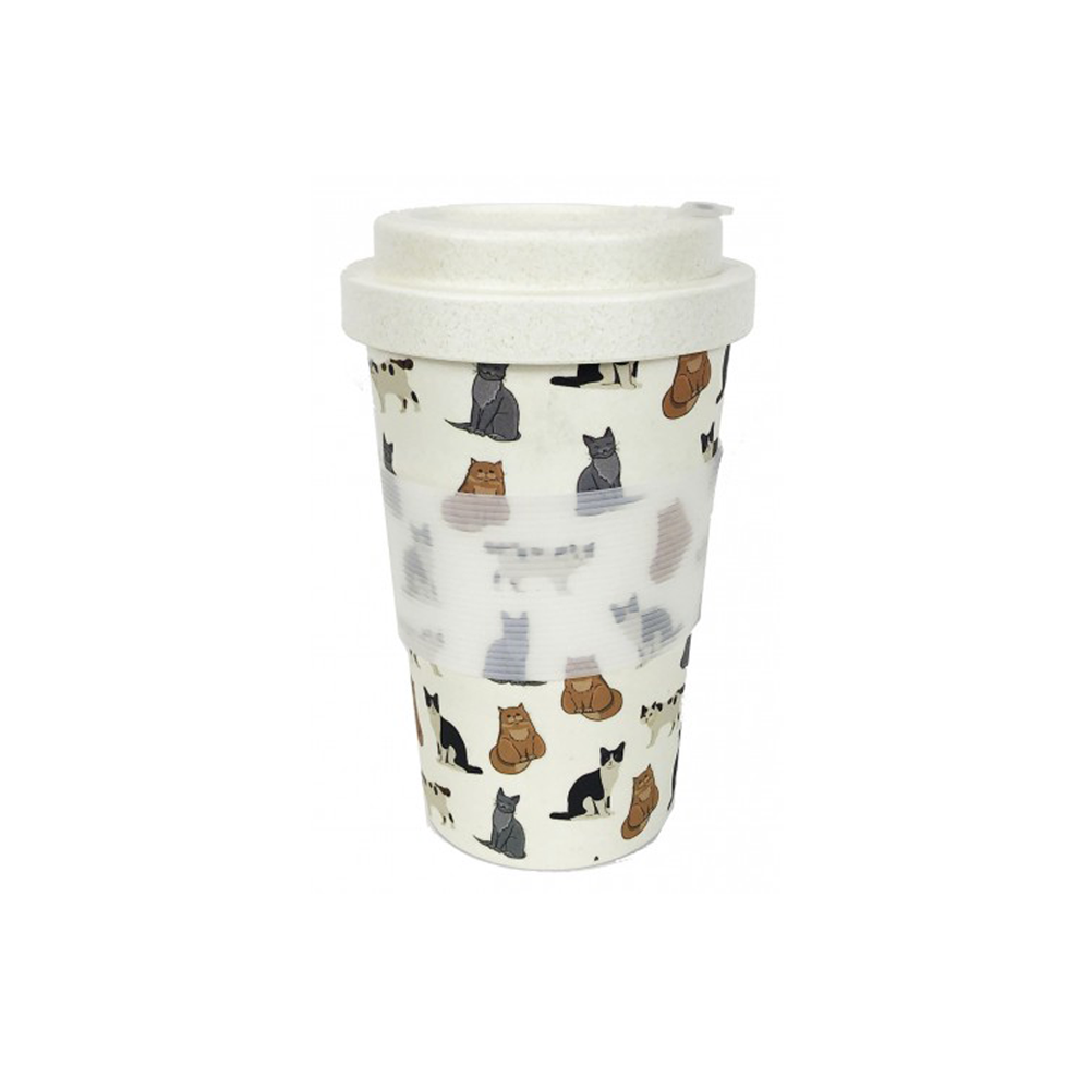 Bamboo Eco Travel Mug Cats