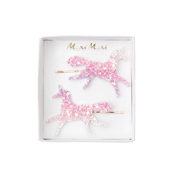 Meri Meri Ombre Glitter Unicorn Hair Slides