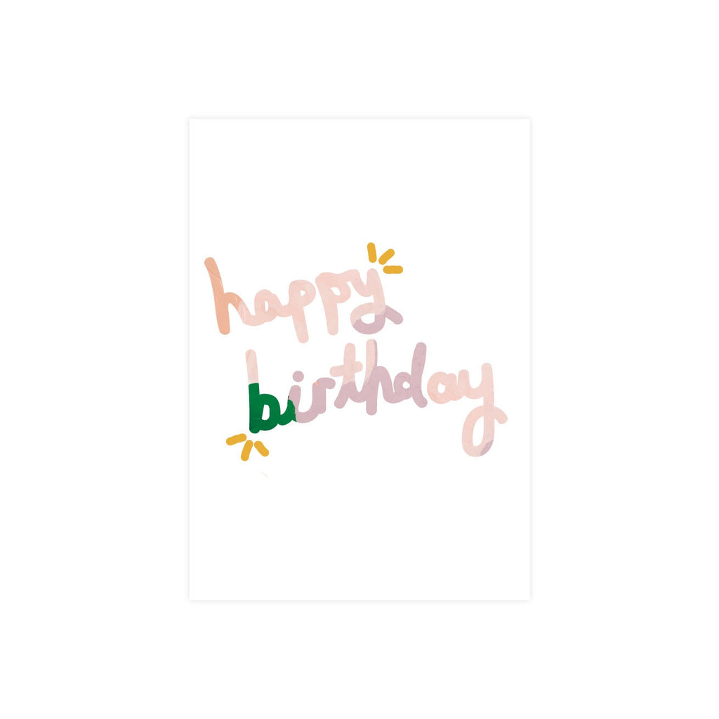 Alice Berry X Iko Iko Card Happy Birthday Pink