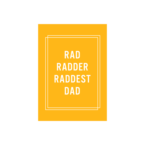 Iko Iko Father's Day Card Rad Dad