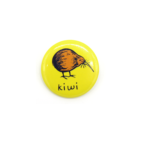 Nz Badge Yellow Kiwi