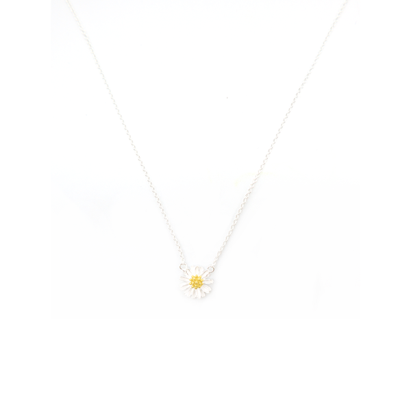 Iko Iko Necklace Flower Silver with Gold
