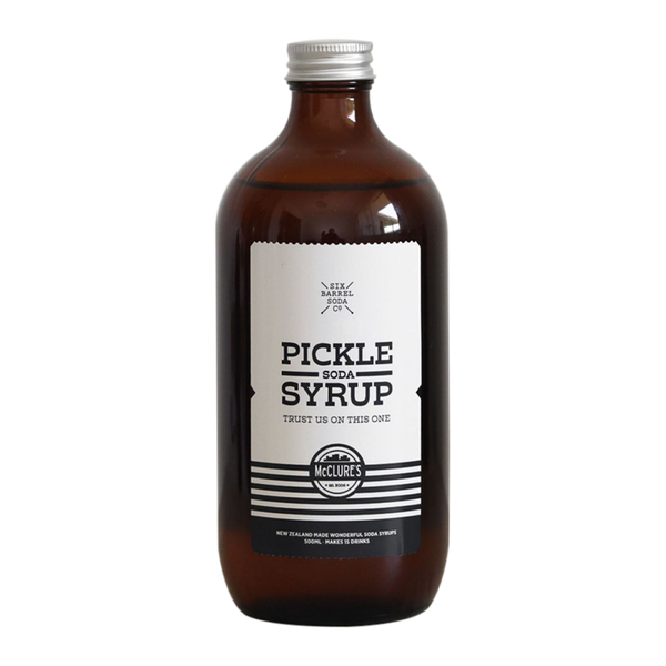 Six Barrel Soda x McClures Limited Edition Pickle Syrup