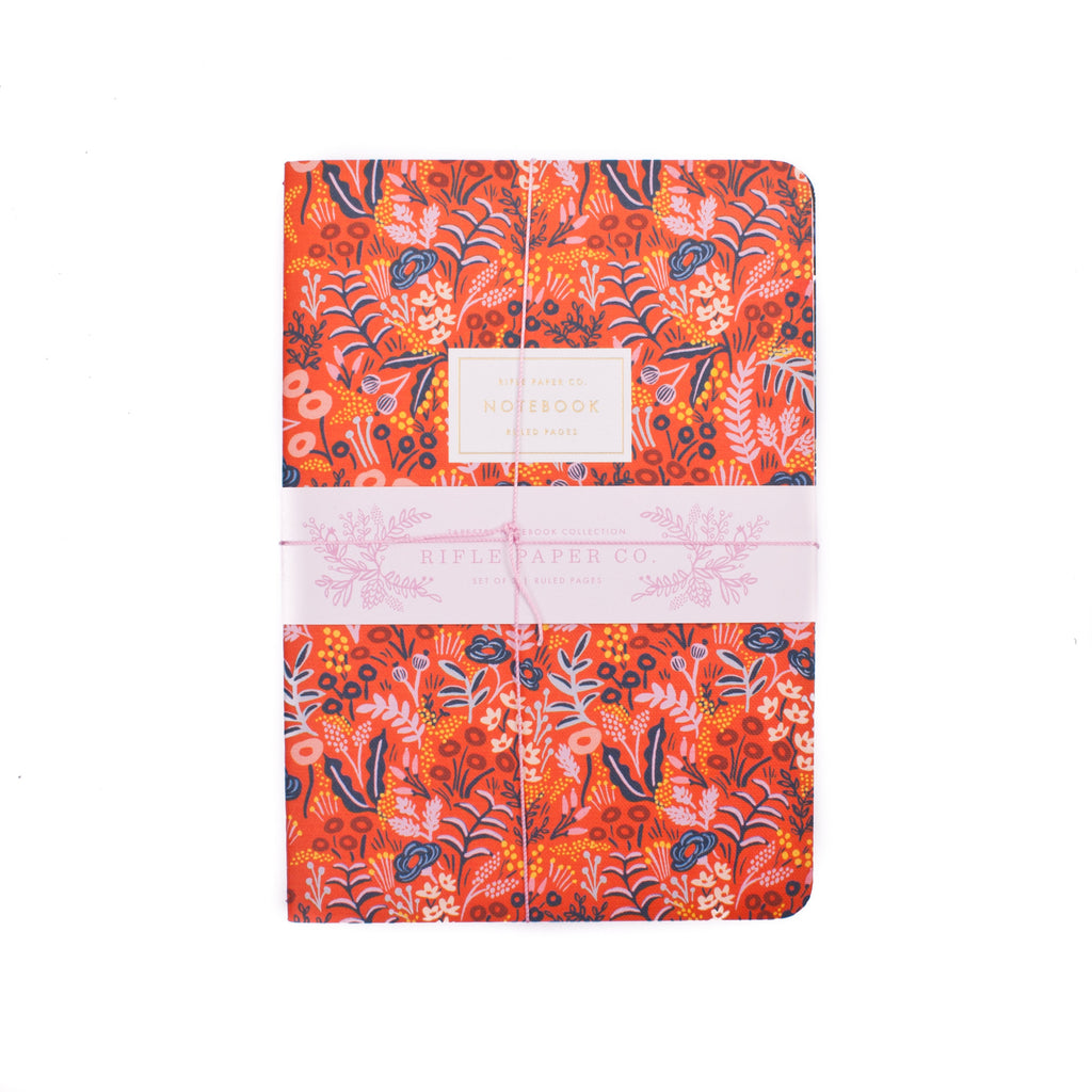 Rifle Paper Co. Stitched Tapestry Notebooks Set of 3