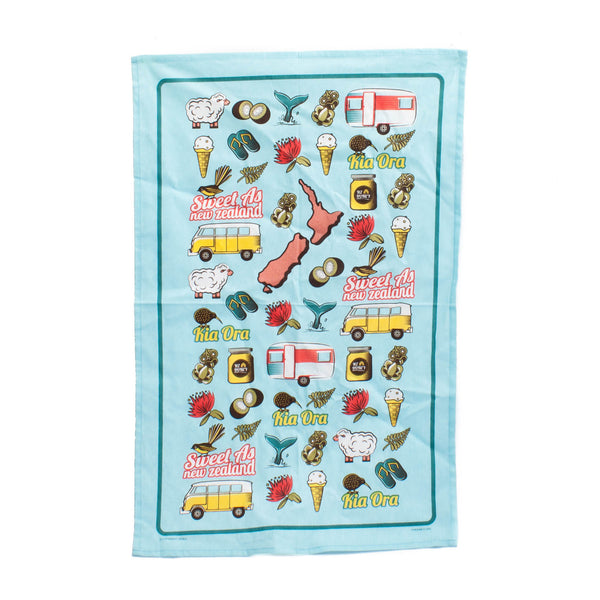Kiwi Iconics Tea Towel