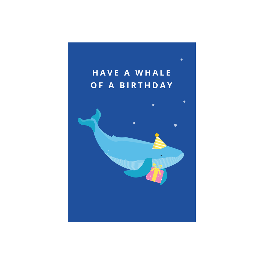 Iko Iko Cutie Animal Pun Card Whale Birthday