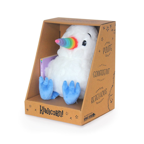 Kiwicorn Plush Toy with Board Book