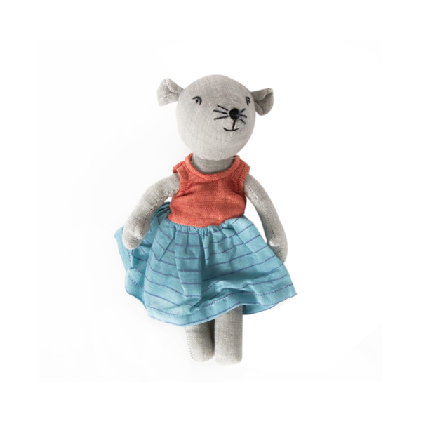 Handmade Mouse Toy in Dress