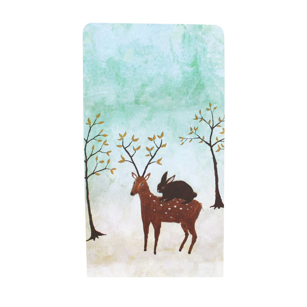 Roger La Borde Christmas Gift Bag Deer and Rabbit