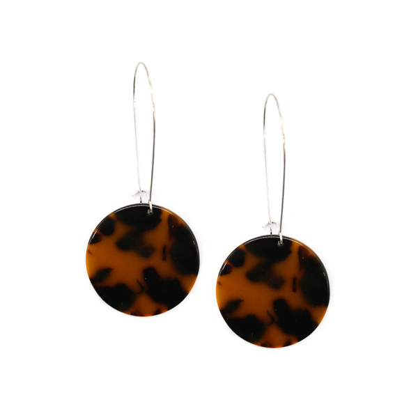 Penny Foggo Earrings Tortoiseshell Circle