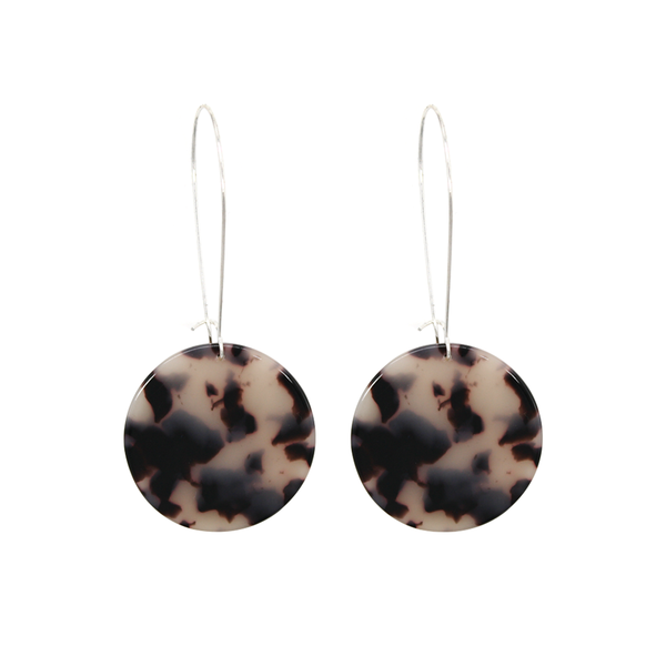 Penny Foggo Earrings Tortoiseshell Circle Light Brown