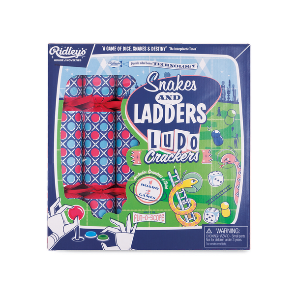 Ridleys Party Crackers Snakes and Ladders and Ludo Set of 6