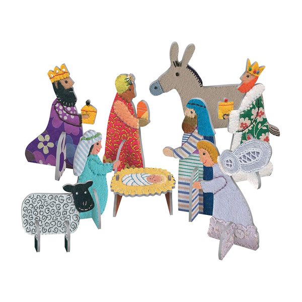 Roger La Borde Pop and Slot Christmas Nativity Scene