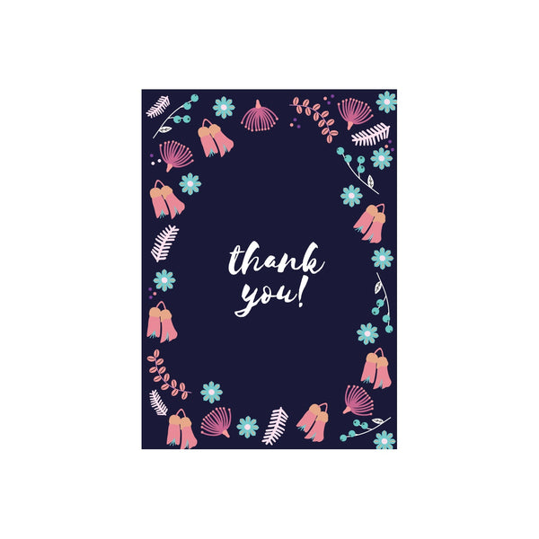 Iko Iko Floral Message Card Thank you