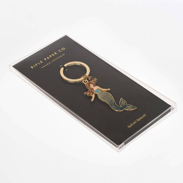 Rifle Paper Co. Enamel Keychain Mermaid