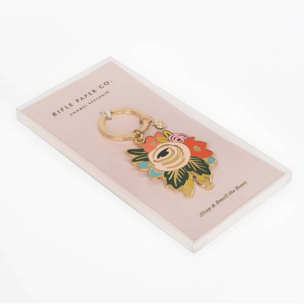 Rifle Paper Co. Enamel Keychain Rosa