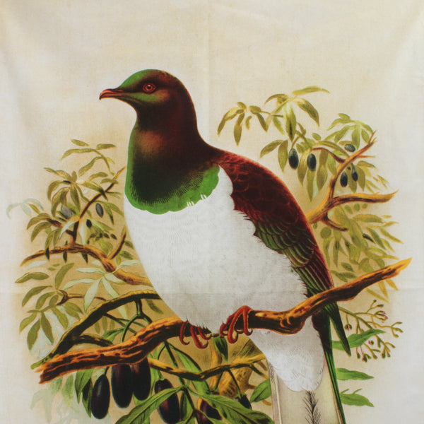 New Zealand Retro Tea Towel Wood Pigeon