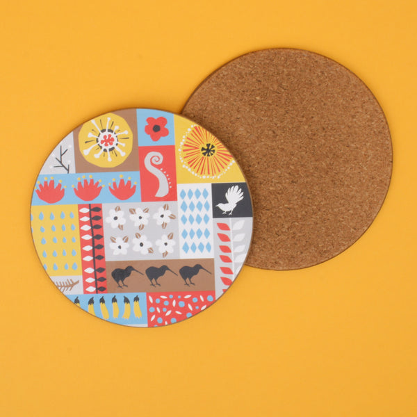 Tofutree Coaster Set of 4 Montage